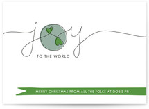 Joy to the World with Love Business Holiday Cards