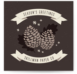 Pine Cones Business Holiday Cards