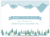Mountainscape Business Holiday Cards