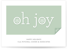 Simple Joy Business Holiday Cards
