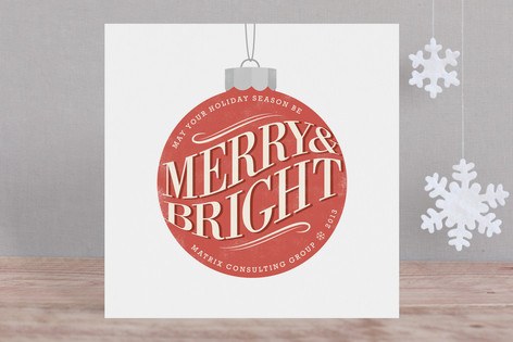 Vintage Ornament Business Holiday Cards