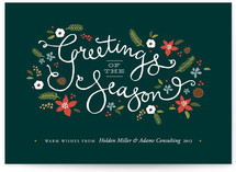 Greetings of the Season Business Holiday Cards