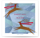 Joyful Reindeer Business Holiday Cards