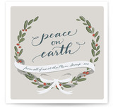 Wreath and Ribbon Business Holiday Cards