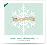 Wondrous Snowflake Business Holiday Cards
