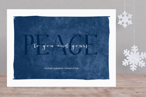 Simple Peace Business Holiday Cards