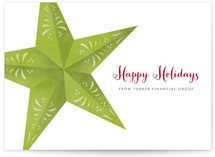 Ornate Star Business Holiday Cards