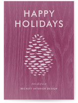 Woodsy Holiday Business Holiday Cards