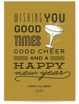 Good Cheer &amp; Happy New Year Business Holiday Cards