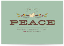 Peaceful Wishes Business Holiday Cards