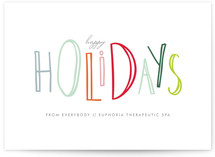 Happy-Go-Lucky Holidays Business Holiday Cards