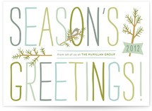 Branch and Bird Business Holiday Cards