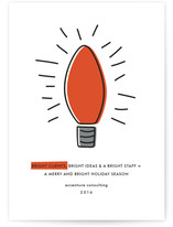 Lightbulb Business Holiday Cards