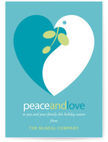 Peace and Love Business Holiday Cards