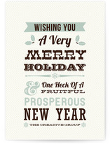 Holiday Wishes Business Holiday Cards