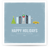 Winter Cityscape - NYC Business Holiday Cards