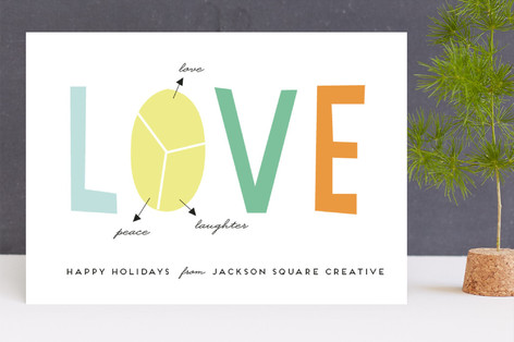 New year plan Business Holiday Cards