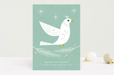 Winter Dove Business Holiday Cards