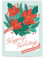 Poinsettia Post by Paper Raven Co.