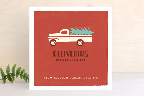 Holiday delivery truck business holiday cards by k minted holiday delivery truck business holiday cards reheart Gallery