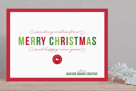 Simple Season Business Holiday Cards