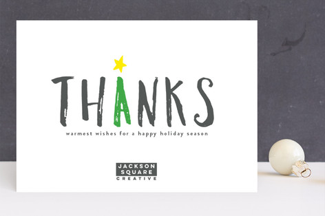 Big Thanks Business Holiday Cards