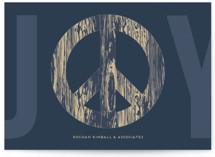 Woodgrain Peace & Joy
