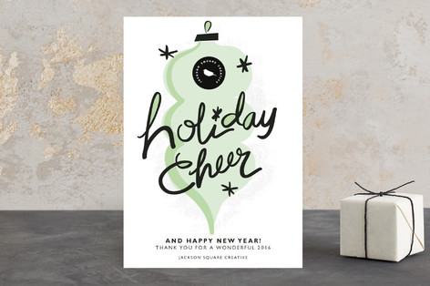 holiday cheer and happy new year business holiday cards