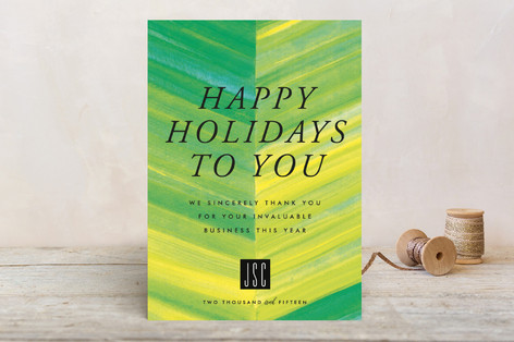 Chic Chevron Business Holiday Cards