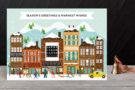 Winter In Our City Business Holiday Cards