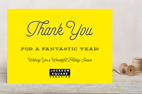 Simple Thank You Business Holiday Cards