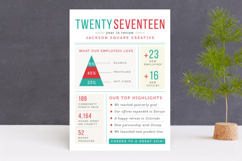 Zabaglione Business Holiday Cards