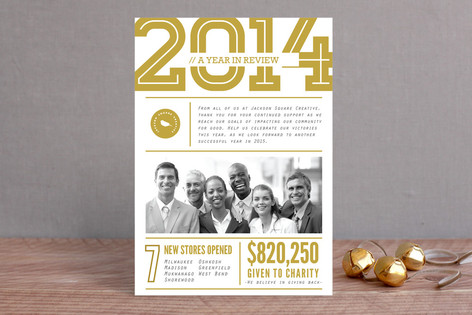 company year in review business holiday cards - Holiday Cards For Charity