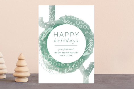 Christmas Confetti Business Holiday Cards