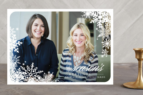 Snowflake Window Business Holiday Cards