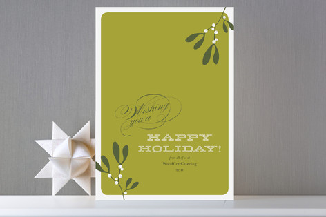 Mistletoe Business Holiday Cards