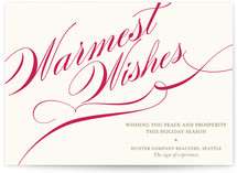 Winter Flourish Business Holiday Cards