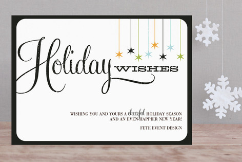 Retro Holiday Wishes Business Holiday Cards