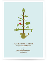 Green Holiday Business Holiday Cards