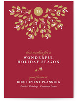 Mistletoe Wreath Business Holiday Cards