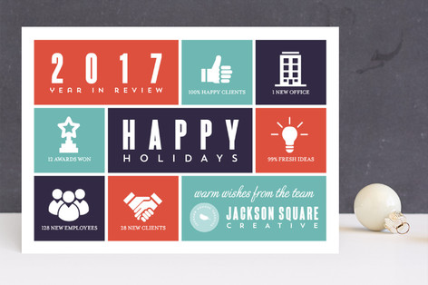 Box Infographics Business Holiday Cards