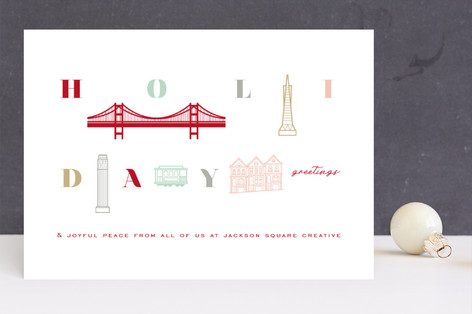 Holiday Greetings from San Francisco Business Holiday Cards