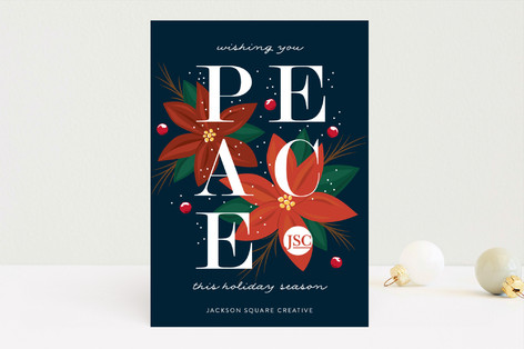 Bold Peace Business Holiday Cards