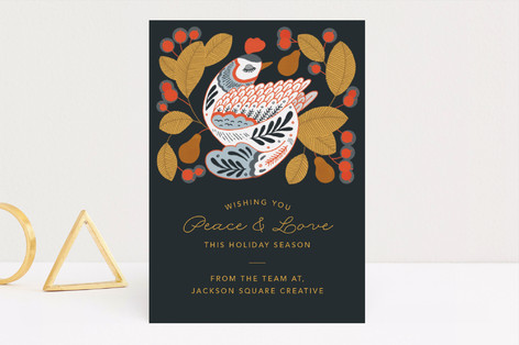 Partridge in a Pear Tree Business Holiday Cards