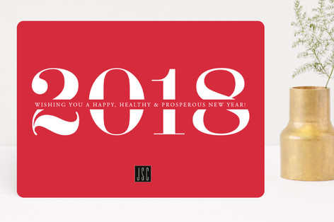 Good Luck Year Business Holiday Cards