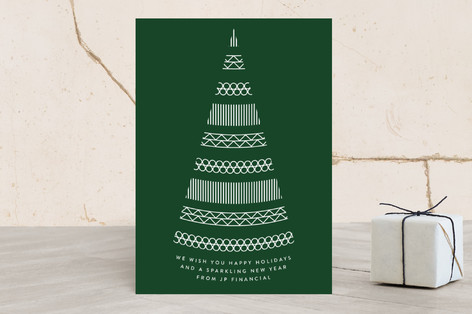 Sparkling Tree Business Holiday Cards