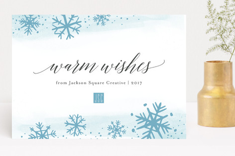Snowfall Business Holiday Cards