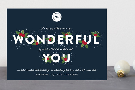 Wonderful Year Business Holiday Cards