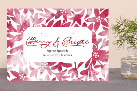 otomi poinsettias Business Holiday Cards