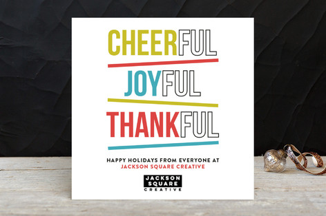 Full Of Thanks Business Holiday Cards